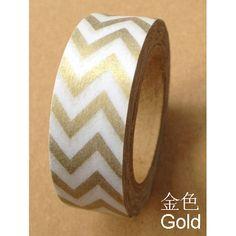 Gold Chevron Washi Tape
