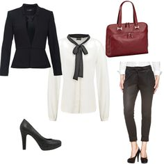 OneOutfitPerDay 2016-01-07 Business Outfit - #ootd #outfit #fashion #oneoutfitperday #fashionblogger #fashionbloggerde #frauenoutfit #herbstoutfit - Frauen Outfit Frühlings Outfit Herbst Outfit Outfit des Tages Sommer Outfit Winter Outfit Aktentasche Blazer Bluse Bürooutfit Business Outfit Chino Hallhuber Hemd Hemdbluse High Heel Pumps High Heels Laptoptasche Leonhard Heyden Pumps s.Oliver Turnover Vero Moda