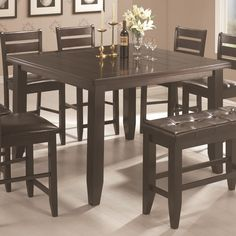 102728 - Page Contemporary Square Counter Height Leg Table   *buy, sell, trade, Furniture @ Barter Post SALE Price $