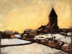 Old Aker Church by Edvard Munch, 1881