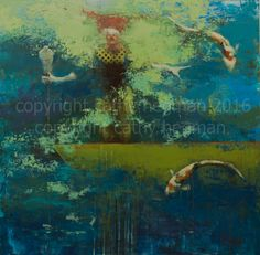 LongBoats Depth Perception_2016_acrylic_45 x 45_ copyright Cathy Hegman small jpewmg (1 of 1)