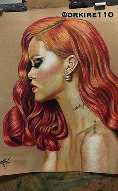 Rihanna drawing