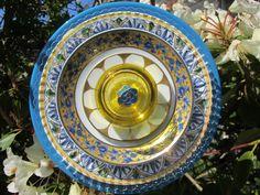Glass Plate Flower. $35.00, via Etsy.