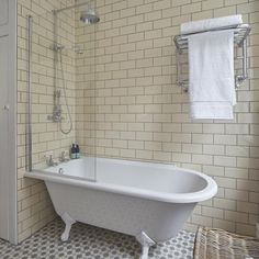 Bath with shower | Take a look at this brilliant bathroom transformation | housetohome.co.uk