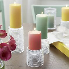 Spin Candleholders   Crate and Barrel