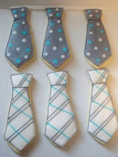 Neck Tie Sugar Cookies by Just4YouTreats on Etsy, $28.00