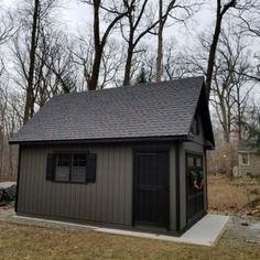 Patriot 2 Story With Trim Shutter Combo Double Door with Transome Windows Return Gables PT Floors Extra Single Door Backyard Storage Sheds, Backyard Sheds, Outdoor Sheds, Shed Storage, Amish Sheds, Amish Barns, Shed Building Plans, Shed Plans, Rustic Houses Exterior