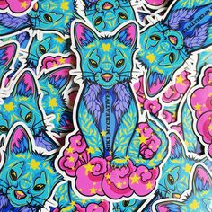 Those supercute Youkai Vinyl Stickers are weatherproof and also resistant to sunlight. They fit on phones, laptops, cars and more :)