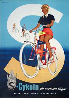 Cykeln poster from Sweden in 1959