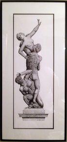 The Rape of The Sabine Women - Original Artwork Framed