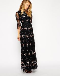 Enlarge Needle & Thread Embellished Willow Maxi Dress