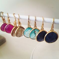 Colorful, everyday earrings by Stella & Dot.