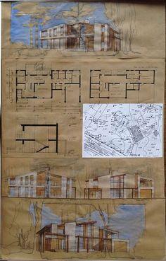 Sketchbook Architecture, Architecture Résidentielle, Architecture Concept Drawings, Cultural Architecture, Architecture Portfolio, Portfolio D'architecture, Architecture Presentation Board, Presentation Layout, Architectural Presentation