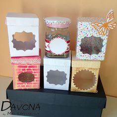Dárkové krabičky na skleničky s marmeládou