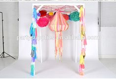 METALLIC SILVER tissue paper tassel garland for wedding decorations silver anniversary, View silver garland, Party supplies Product Details from Xiamen Palmy Import & Export Co., Ltd. on Alibaba.com