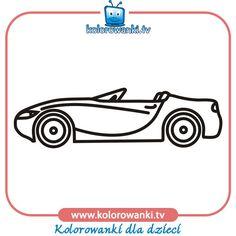 Kolorowanki z samochodami - Samochód kabriolet