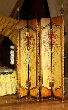 Dollhouse Miniature 18th Century French Shutter by JennyLTDesigns #dollhouse #miniatures #frenchshutter