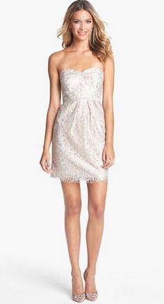 Jenny Yoo 'Hudson' Metallic Sheath Lace dress