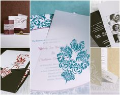 Four elements in personalizing your wedding invitations include: 1. Color. 2. Font. 3. Wording. 4. Photos.