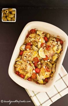 Easy Greek Chicken Bake-  super tasty, grain free & low carb