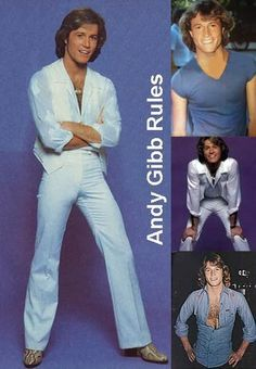 Andy Gibb, 70s Inspired Fashion, 70s Fashion, Vintage Fashion, Andy Roy, Gibbs Rules, Disco 70s, My First Crush, Love Me Forever
