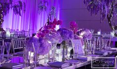 Close up of Stunning Florals! By Event Design Event Company, Bat Mitzvah, Corporate Events, Event Design, Avatar, Florals, Lavender, Wedding Decorations, Inspired