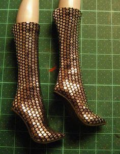 Fashion Doll Shoes How to make boots