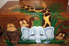 cute jungle toy box