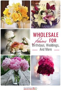 Wholesale Flowers...Did you know that Global Rose has wholesale flowers that you can get for cheaper than your normal bouquet? It's perfect for any occasion or when you need a lot of flowers quickly and within a tight budget. Check out GlobalRose.com and see what you can arrange!