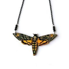 CRMC X Magpie Til I Die Death's-Head Moth Necklace available at www.crmc-clothing.co.uk | WE SHIP WORLDWIDE #deathsheadmoth #moth #bugs #creepycrawly #creepycreative #Skull #death #macabre #occultjewelry #bugslife #jewellery #jewelry #diy #diyjewelry #alt #alternative #alternativegirl #altgirl #altboy #alternativejewellery #alternativeclothing #occult #handmade #handmadejewellery #handmadejewelry #crmc #crmcclothing #love #fashion #alternativefashion
