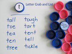Boy Mama Teacher Mama Letter Grab and List
