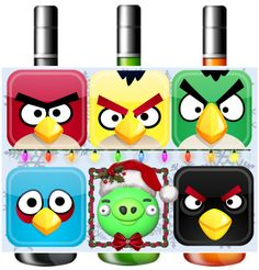 """""""Angry Birds Beverage Label"""" by creative-geniuses ❤ liked on Polyvore"""