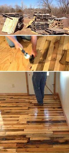 Pallet Wood Flooring by bleu.