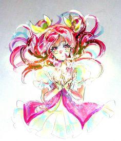 Black Splash, Glitter Force, Pretty Cure, Manga, Don't Give Up, Magical Girl, Shoujo, Twinkle Twinkle, Sailor Moon