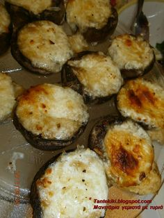 Tante Kiki: Μανιτάρια γεμιστά με τυριά