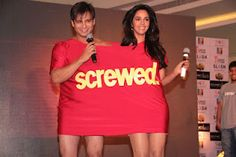 Mallika Sherawat and Vivek Oberoi at The Launch of First Look of Kismet Love Paisa Dilli. | Bollywood Cleavage