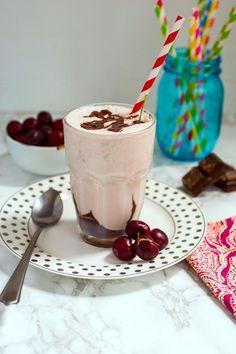 A cherry bourbon vanilla milkshake. Listen, if you're going to make one milkshake all summer long, make it a boozy one with cherries, bourbon and vanilla! Click through for recipe!