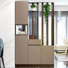 Shi live simple modern living room wall hollow partition between cabinet entrance hall door shoe racks hall bar Room Partition Wall, Living Room Partition Design, Living Room Divider, Room Partition Designs, Wooden Partitions, Room Partitions, Room Screen, Halle, Living Room Designs