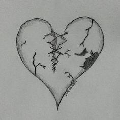 Just a broken hearted  #art #sketch #black #color #draw #book #pencil #paper #drawing #pen #drawingpen