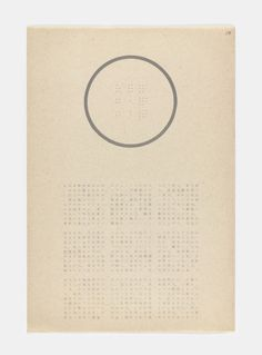 YUTAKA MATSUZAWA, Pillar in Pillar from The Whole Works, Letterpress from a portfolio of 71 prints 1965. MOMA. via @jonwbenedict on Instagram