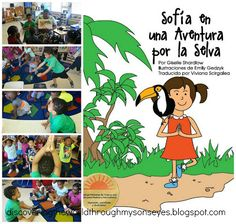 Sofia en una Aventura por la Selva in action at a kids summer camp! Post by Discovering the World Through My Son's Eyes