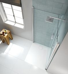 Merlyn Showering are a leading supplier of contemporary shower enclosures, bath screens, shower trays and accessories. Bathroom Design Luxury, Bathroom Design Small, Bathroom Layout, Wet Room Shower Screens, Corner Shower Doors, Tiny Bathrooms, Tiny House Bathroom, Behindertengerechtes Bad, Small Shower Room
