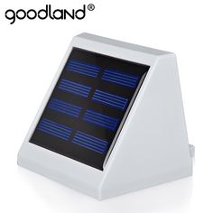 Goodland LED Solar Light Energy Saving Outdoor Lighting LED Solar Lamp Waterproof IP65 Light Control Wall Lamps For Path Garden