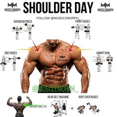 SHOULDER DAY ➖ ✅ Want Full 3D Shoulders? Hit 'Save' & Try These Out Next Time FOLLOW @musclemorph_ for more fitness tips ➖ ✅Now that you've got an idea of some of the best shoulder exercises, it's time to build upon that knowledge with some training advice. Below, we will provide you with some shoulder training advice that you can apply to your workouts. - Watch Out for Interference with Related Muscles. The shoulders are closely related to the chest and triceps. Therefore, you should...