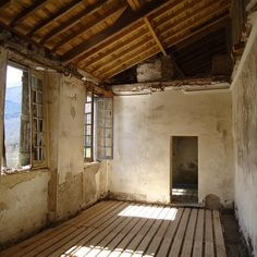 Upper floor repairs being carried out, Bringing the Stately Back to Life French Cottage, French Country House, Toulouse, Chateau De Gudanes, Languedoc Roussillon, French Chateau, Instagram Blog, Eclectic Decor, Abandoned
