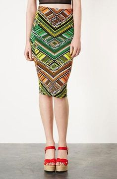 Topshop: Bold print skirt!