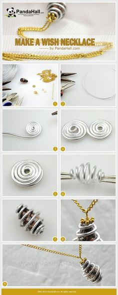 Tutorial DIY Wire Jewelry Image Description how to make a wire cage for pendant or charm. ~ Wire Jewelry Tutorials #jewelrymaking #wirejewelry