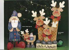 Album sous forme d& Yule Crafts, Santa Crafts, Book Crafts, Hobbies And Crafts, Xmas Crafts, Christmas Wood, Christmas Projects, Winter Christmas, Wood Reindeer