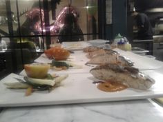 Salmon steak with bellpepper sc & miso butter