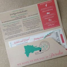 Boarding Pass Invitation and Luggage Tag RSVP by kreativees